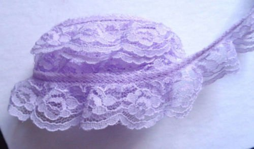 lovely 3//4 inch wide floral lace trim selling by the yard