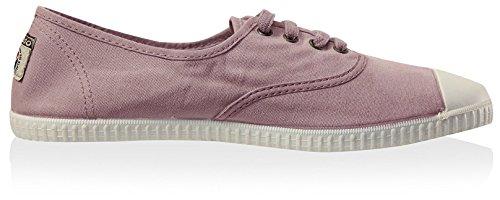 Victoria Womens Anglais Teinté Toile Toe Lacets Sneaker Rose