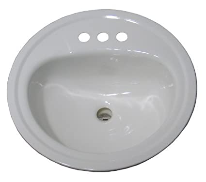 Crane Plumbing 1315v Galaxy 19 Inch Round Centerset Drop In Lavatory