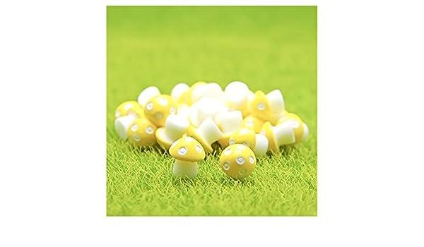 Flowerrs Jardín de Hadas Mini Setas de PVC Casa Miniatura Jardín de Hadas Micro Paisaje Decoración del Jardín de Su Casa Macetas Bonsai Craft Decor ...