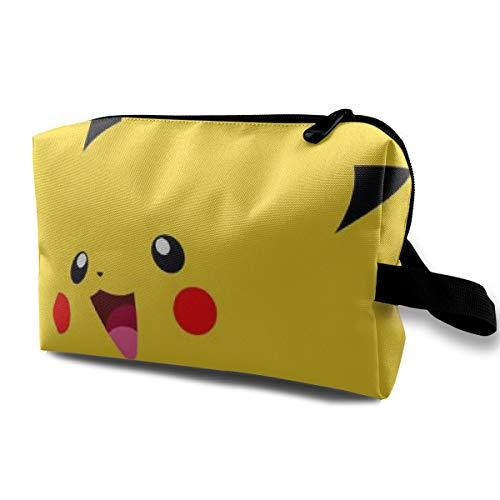 LIUYAN Toiletry Bag Cute Pikachu Cosmetic Bag for Women -