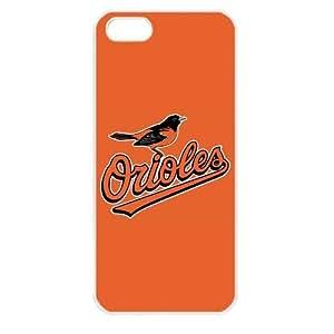 MLB Major League Baseball Baltimore Orioles Apple iPhone 5 TPU Soft Black or White case (White)