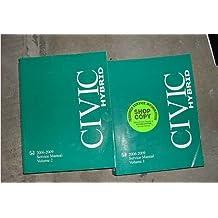 2006 2007 2008 2009 Honda Civic Hybrid Service Manual (2 volume set)