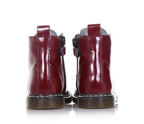 CIAO BIMBI - Bordeauxroter Stiefel mit Schnürsenkeln aus Glanzleder, in jedem Detail gepflegt, Mädchen