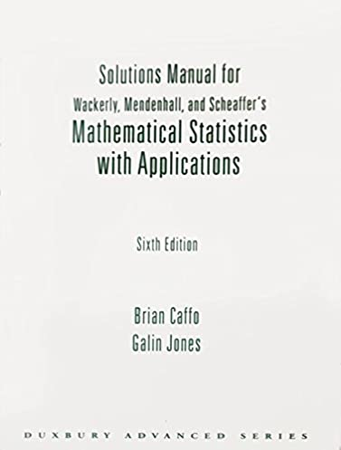 amazon com solutions manual for wackerly mendenhall and rh amazon com Physics Solutions Manual Principles of Manufacturing Processes Metal Solutions Manual