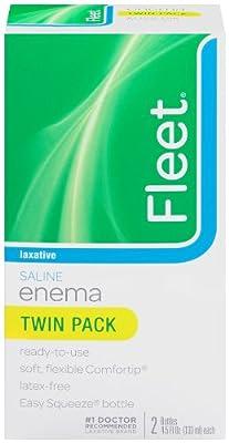 Fleet Saline Enema Twin Pack, 4.5-Ounce Bottles - 9-Ounces per Box (Pack of 6)