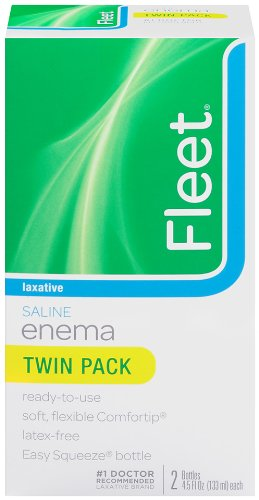 Fleet Saline Enema Twin Pack, 4.5-Ounce Bottles - 9-Ounces per Box (Pack of - Enema Saline Laxative