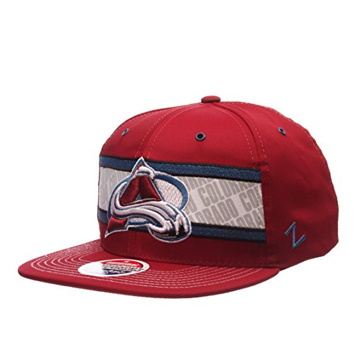 Zephyr Colorado Avalanche Epic Adjustable Snapback Cap - Flat Bill, One Size Baseball Hat ()