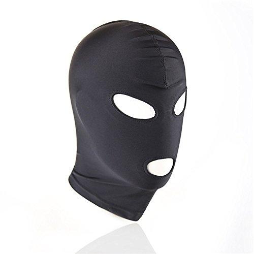 Sexy Erotic Black Head Cover Mask Slave SM Game Flirting Tease Oral Sex Cover Mask #4 Slave Mask