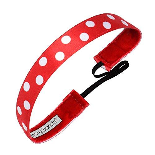 - Sweaty Bands Womens Girls Headband - Non-Slip Velvet-Lined Fitness Hairband - Do The Polka Dots Red