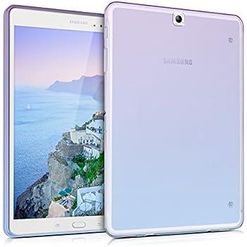 T555N en Transparente kwmobile Elegante y Ligera Funda Crystal Case para Samsung Galaxy Tab A 9.7 T550N
