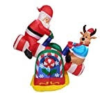 BZB Goods 4 Foot Animated Christmas Inflatable