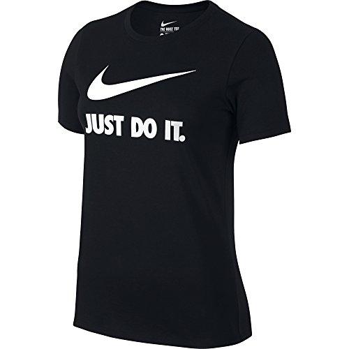 Nike Women's Just Do It Swoosh Tee-Shirt Black/White Small