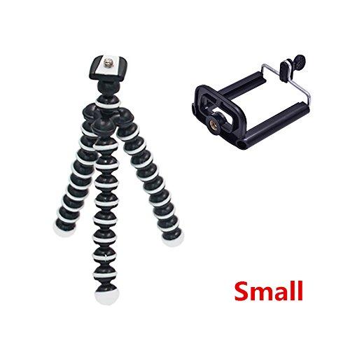 M & Z Octopusミニ三脚ブラケットポータブル柔軟な携帯電話ホルダーカメラスマートフォン三脚折りたたみ式Gorillapod for GoProカメラ Small  B07D7XD6DN