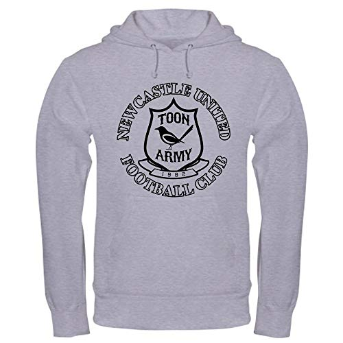 (CafePress NUFC and Crest Pullover Hoodie, Classic & Comfortable Hooded Sweatshirt Heather Grey )