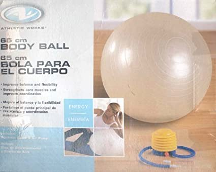 Image Unavailable Not Available For Color Athletic Works 65cm Body Ball Includes Workout Guideair Pump
