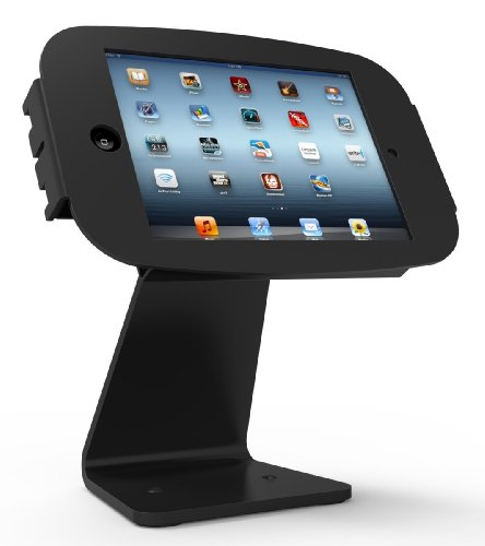 Maclocks 303B224SENB All-In-One Space Enclosure Kiosk With 360-Degree Rotation for iPad 2/3/4 iPad Air iPad Air 2 (Black) by Compulocks