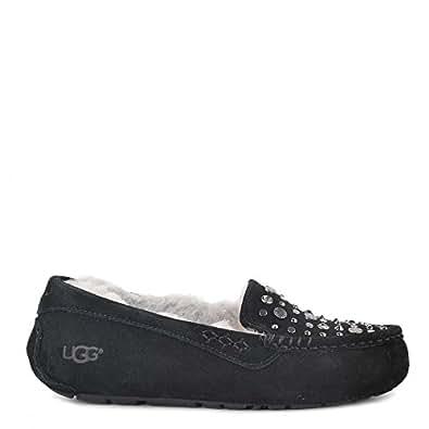 UGG Zapatos Ansley Mocasines de Ante Negro Mujer Black 37: Amazon.es: Zapatos y complementos