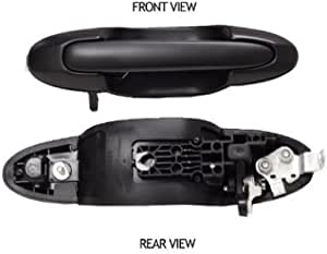 Rear Outside Door Handle Pair 2pcs For 00-06 Mazda MPV Smooth Black DS482