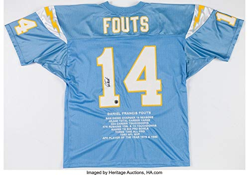 Dan Fouts Autographed Signed San Diego Chargers Jersey Memorabilia - PSA/DNA Authentic ()