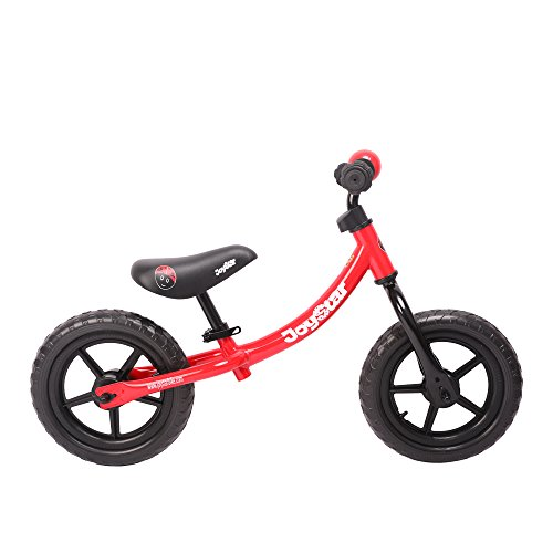 JOYSTAR Adjustable Balance Bike with Low Frame for Toddler 1.5-5 Years Old, Training Bike with Air-Free Tire for Child, 12 inch Kids Bike (Red)