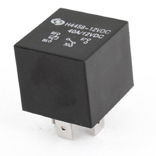uxcell DC12V 40A Black Plastic 4P SPST Auto Alarm ()