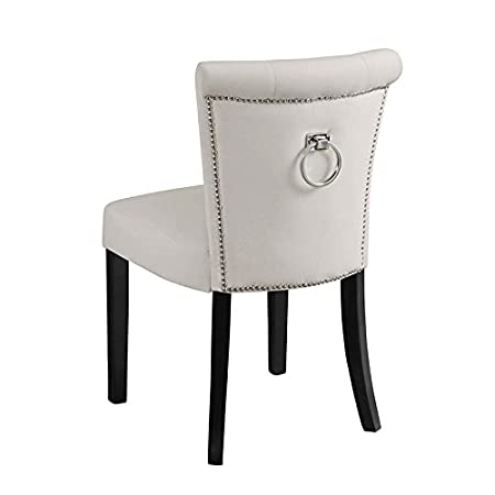 Unique MY-Furniture Upholstered buttoned Dining Chair with back ring  GY23