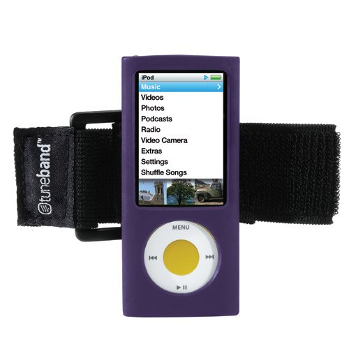 TuneBand for iPod nano 5th Generation (Model A1320, Rear Camera), Premium Armband, Compatible with Nike+iPod, PURPLE (Ipod A1320)
