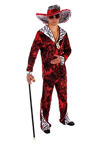Adults 70s Theme Party Big Daddy Outfit Mens Stag Do Fancy Gangster Suit Costume