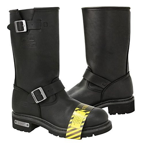 Mens Black Engineer Boots - 4