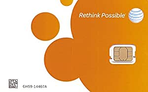 AT&T Nano SIM card (4FF) for iPhone 5, 5C, 5S, 6, 6 Plus, and iPad Air.