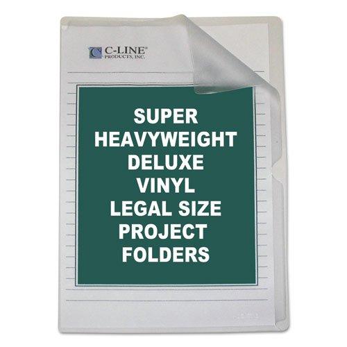 C-Line Deluxe Project Folders, Jacket, Legal, Vinyl, Clear, 50/Box ()