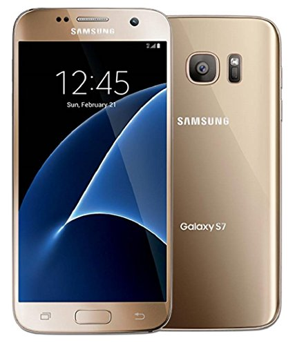 Samsung Galaxy S7 G930T T-Mobile Unlocked GSM 4G LTE Smartphone w/ 12MP Camera - Gold (Renewed) (T Mobile Phone Samsung Galaxy S5)