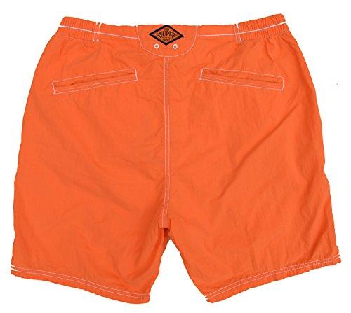 Superdry Badeshort Schwimmshort Premium Deck Short Orange Jaffa Größe L