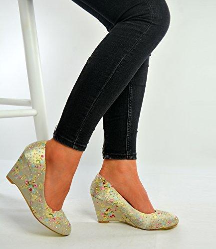Caqui Fashion Mujer Con Sandalias Cucu Cuña wXqZdXI