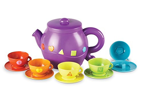 Toddler Tea Set (Learning Resources Serving Shapes Tea Set, Learning Shapes and Colors Toy)