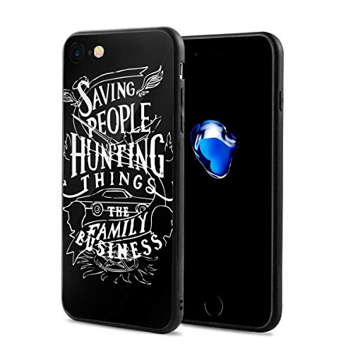 Supernatural American Saving People Hunter Thing Tv Anti-Scratch Shock Rubber Silicone Rugged Thin Cover Phone Case for iPhone 7/iPhone 8