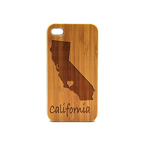 Krezy Case Real Wood iPhone 4 Case, California iPhone 4 Case, eyes iPhone 4 Case, Wood iPhone Case,