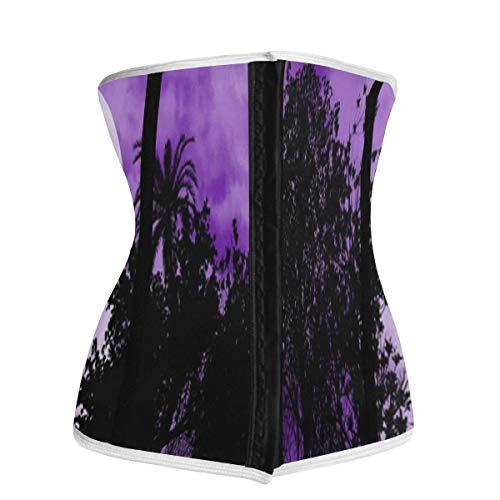 Waist Trainer for Women,Horse In Moonlight Underbust Corset Slimming Body Shaper Belt/Cincher/Trimmer Weight Loss XL
