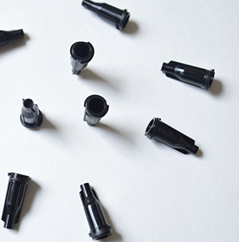 500pack Luer Lock Syringe Tip Caps Screw Type Black Color