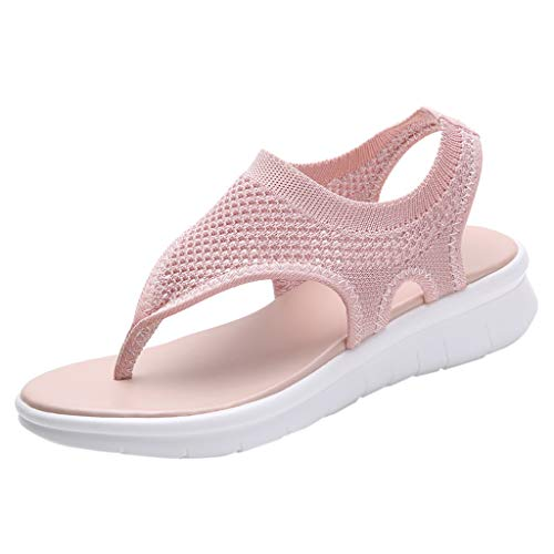 ◕‿◕ Watere◕‿◕ Womens Casual Mesh Comfortable Walking Sandals Lightweight Pink