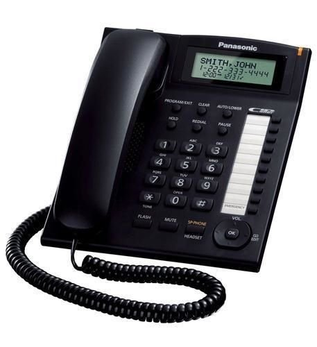 PANASONIC KX-TS880B Single-Line Corded Integrated Phone System with 10 One-Touch Dialer Stations (Black)