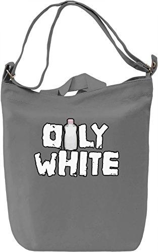 Oly white Borsa Giornaliera Canvas Canvas Day Bag  100% Premium Cotton Canvas  DTG Printing 
