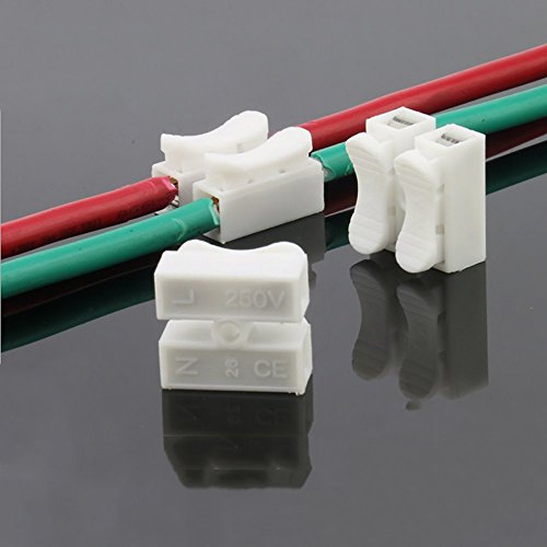 30pcs 2p CH2 Quick Connector cable clamp Terminal Block Spring Connector Wire LED Strip Light Wire Connecting