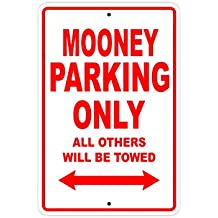 """MOONEY Parking Only All Others Will Be Towed Plane Jet Pilot Aircraft Novelty Garage Wall Decor Aluminum 12""""x18"""" Sign Plate"""