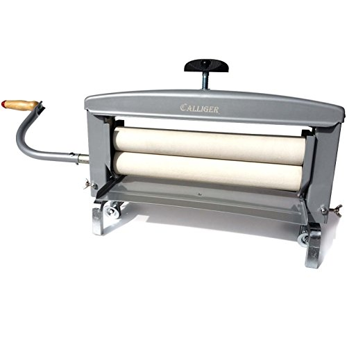 "Price comparison product image Hand Crank Clothes Wringer by Calliger / 14"" Rollers - More Space to Wring than Any Other Brand / Manual Off Grid Laundry Dryer / Perfect for Clothing,  Towels,  Chamois,  Tile Grouting Sponges"