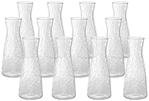 Front of the House ACF001CLT23 Drinkwise Hammered Carafe, 6.5'' Height, 2'' Diameter, 10 oz, Polycarbonate, Clear, (Pack of 12) by Front of the House