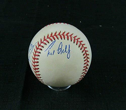 Ted Lilly Joe Oliver Ramiro Mendoza Robert Perez Signed Rawlings Baseball B108 - Autographed Baseballs