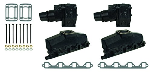 OMC VOLVO PENTA COMPLETE EXHAUST MANIFOLD SET | GLM Part Number: (Gl Exhaust Gasket Manifold)