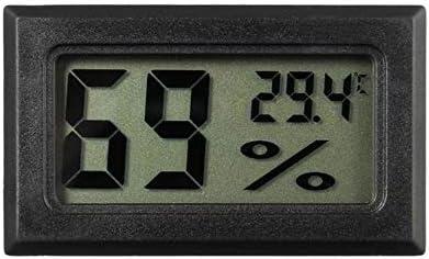 BWYFGRT Mini Digital LCD Temperatursensor Luftfeuchtigkeitsmesser Thermometer Hygrometer Messuhr Weiß/Schwarz. Schwarz